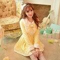 Princess sweet lolita white dress Candy rain Japanese design Long sleeve Japanese  fur collar Slim lace wool coat C16CD5910