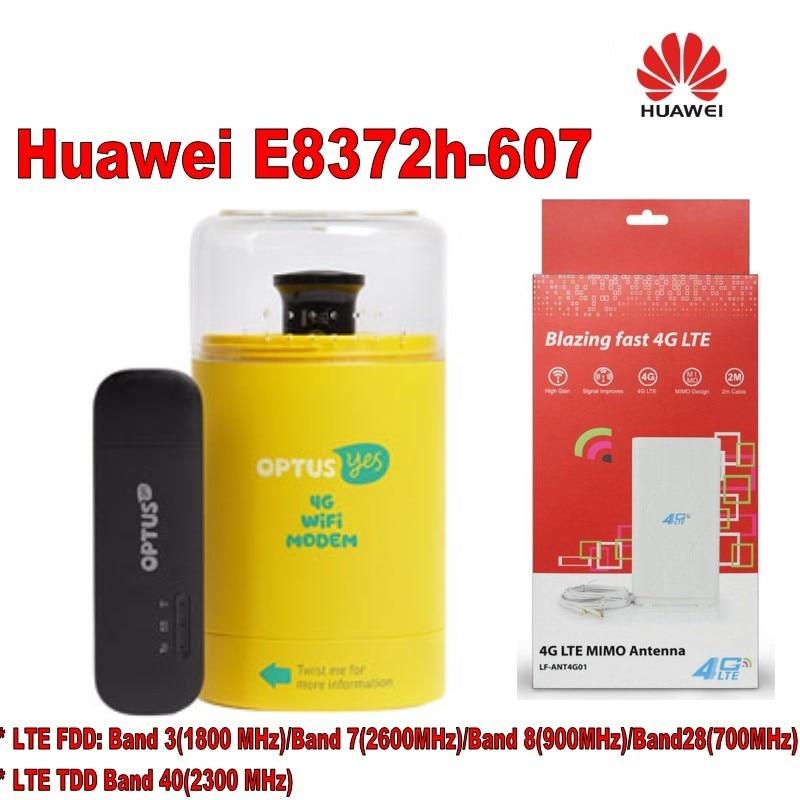 Huawei E8372h-607 Wingle WiFi Hotspot 150Mbps LTE 4G 3G USB Car Home Modem+4g TS9 49dbi antenna huawei e5377s 32 150mbps 4g lte 3g wifi mobile broadband hotspot white 4g signal amplifier antenna 49dbi ts9 for huawei e5377