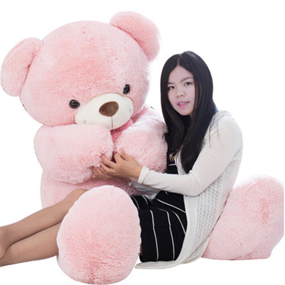 Fancytrader charmant gros rose blanc bleu ours en peluche peluche doudou géant ours en peluche avec nœud poupée 160 cm/140 cm/100 cm