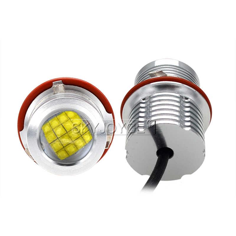 2018 High Quality 2*80W 160W E39 LED Marker Kit 80W LED Chips DRL 6500K White For E63 E65 E53 E83 E87 X3 X5 LED Angel Eyes E60