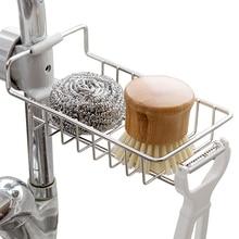 Creative Drainage Sponge Racks Adjustable Faucet Dishcloth Drain Dry Shelf Stainless Steel Kitchen Multifunction Hanging Holders