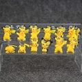 12 unids/lote Meter Cifras Pikachu Umbreon Espeon Vaporeon Glaceon Toy Pvc Figure Toy llavero llavero