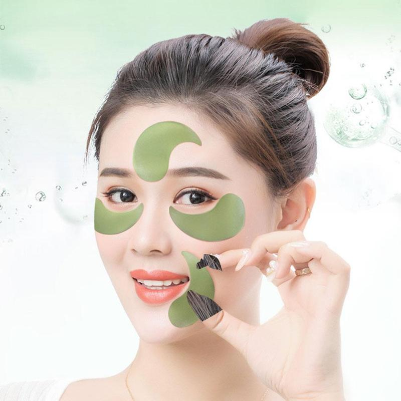 60pcs Collagen Anti Wrinkle Gel Sleep Eye Patches Gold Seaweed Collagen Eye Mask for Under The