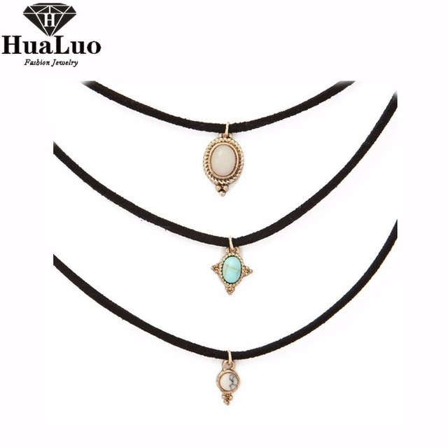 Hualuo 3 colors all match chokers necklaces alloy cute pendants hualuo 3 colors all match chokers necklaces alloy cute pendants necklaces hot selling sets aloadofball Choice Image