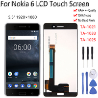 5.5 Display For Nokia 6 N6 TA 1021 TA 1025 TA 1033 LCD Touch Screen Digitizer Assembly Replacement Free Tools For Nokia 6 LCD