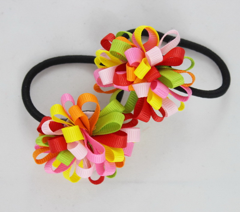 TS New 2015 Ribbon Bow Hair Tie Rope Hair Band Colorfully Boutique Bows Elastic Hair band for girl and woman hair Accessories metting joura vintage bohemian ethnic tribal flower print stone handmade elastic headband hair band design hair accessories