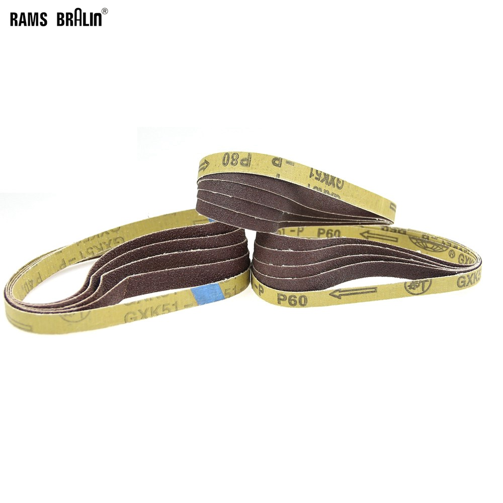 50 Pcs 457*13mm Abrasive Sanding Belts Air Belt Grinder Accessories P40 P60 P80 Optional