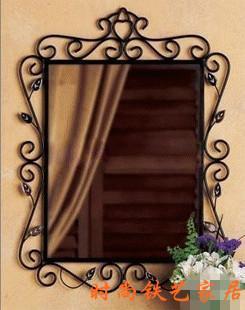 Fashion Rustic Bathroom Mirror Wrought Iron Hanging Mirror Iron