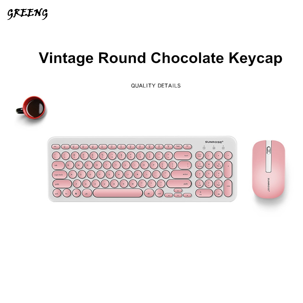 T85 Wireless keyboard with mouse Combo With Round Keycaps 2.4GHz Dropout-Free Connection Long Battery Life For PC/Laptop image
