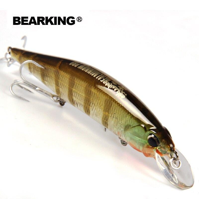 Señuelos de Pesca Bearking Bk17-M120 Minnow 1 unid 120mm 18g 0-18.M calidad profesional Minnow suspender señuelo cebo duro con 3 anzuelos
