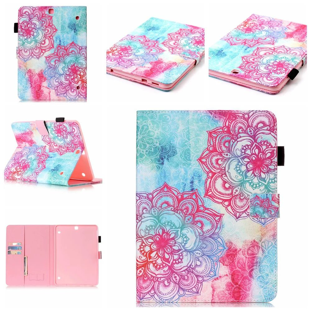 quality design 23a3b dd9cb US $7.13 5% OFF PU Leather Stand For Samsung galaxy tab A6 7'' T280 T285  Case with card slot Protector back cover For Samsung Mini Cover Tablet-in  ...