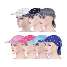Womens Visor Hat Sunhat Printed Head Scarf Keep Warm Cap Print sun hats for women femme Light body