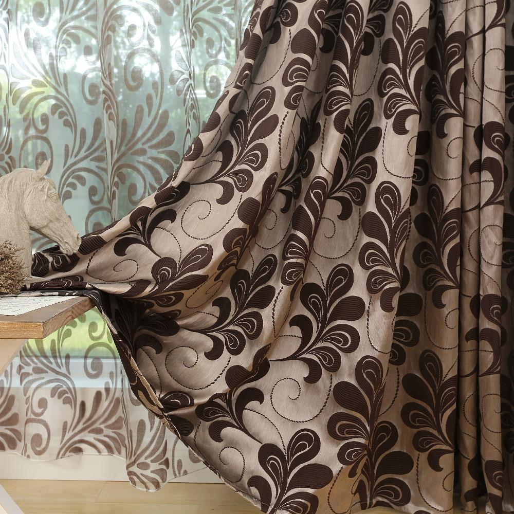 Free Shipping 3d Semi Blackout Curtains Rustic Style