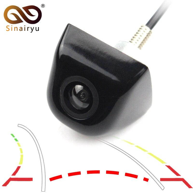 Sinairyu inteligente Universal vehículo cámara de respaldo coche visión trasera trayectoria inversa cámara con línea de guía dinámica carcasa de Metal