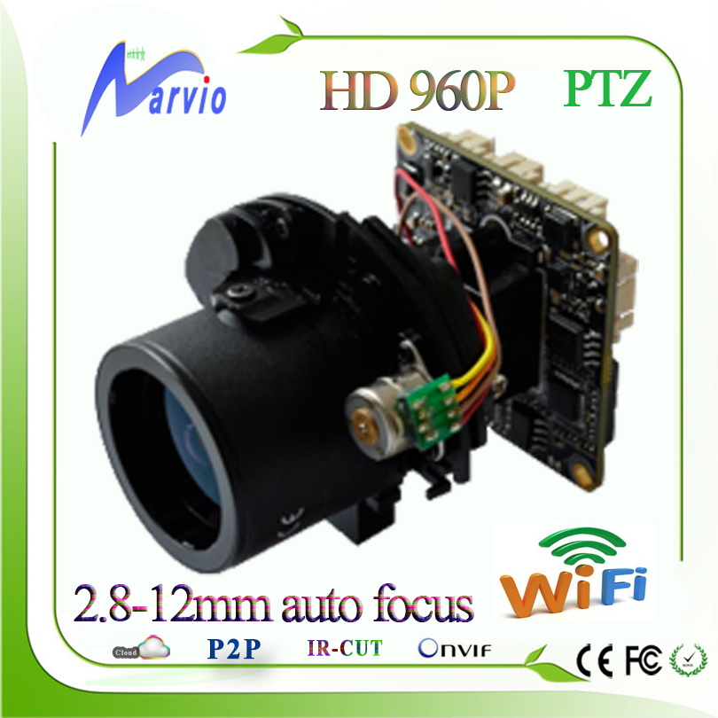 New 960P 1 3MP PTZ IP camera board module motorized lens auto focus 2 8 12mm