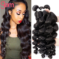 Top 7A Unprocessed Loose Wave 4 Bundle Ali Moda Malaysian Wet Wavy Virgin Hair Natural Weave Soft No Shed Honey Queen Loose Wave