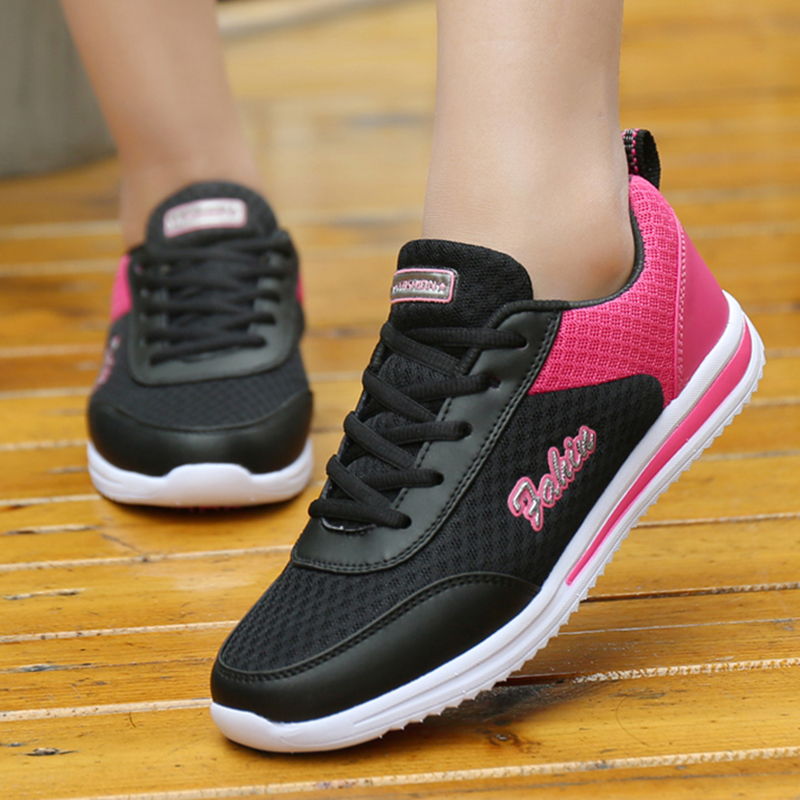 Women Shoes Breathable Sneakers Women 2019 Spring Summer Gym Shoes Flat Casual Shoes Female Krasovki White Sport Basket Femme