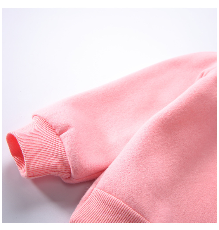 Cute Ball Ice Cream Girls Sweatshirt Autumn Winter Thick Warm Kids Sweatshirts for Girl O-neck Long Sleeve Children Top Clothing 11