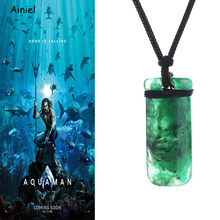 Anime Movie Justice League Aquaman Arthur Necklace Pendant Manual Long Sweater Chain Fashion Halloween Cosplay Costume Men Women(China)