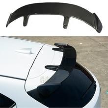 Carbon Fiber Exterior Rear Spoiler Tail Trunk Boot Wing Decoration Car Styling For Mazda 3 Axela Hatchback 2014 2015 2016 2017 стоимость