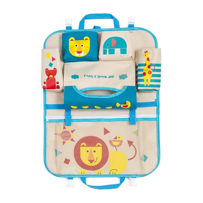 Asiento trasero de coche de dibujos animados bolsa colgante organizador coche-estilismo producto de bebé Varia estirado Tidying automóvil Interior Accesorios