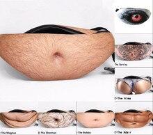 Pánské Falešný Belly Waist Bag Pack Fantastický Otec Neformální Prodejce Fasádní Tummy Skladování Páry Pásu Pohybující se Kapsy
