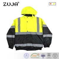 High Quality Men Outdoor Multi pockets Break Away Reflective Safety Work Jacket Construction Workwear