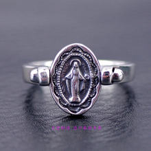 Thailand jewelry 925 Sterling Silver rings Thai Silver Ring with Reversible Notre Dame Ring Face цена
