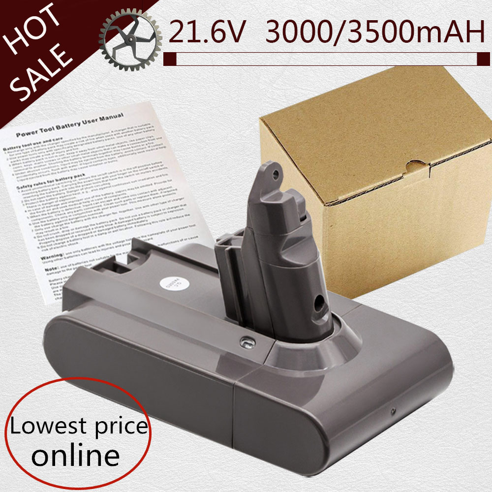 3000/3500mAH 21.6V Vacuum Cleaner Li-ion Battery For Dyson Battery For V6 DC58 DC59 DC61 DC62 DC74 SV09 SV07 SV03 965874-02