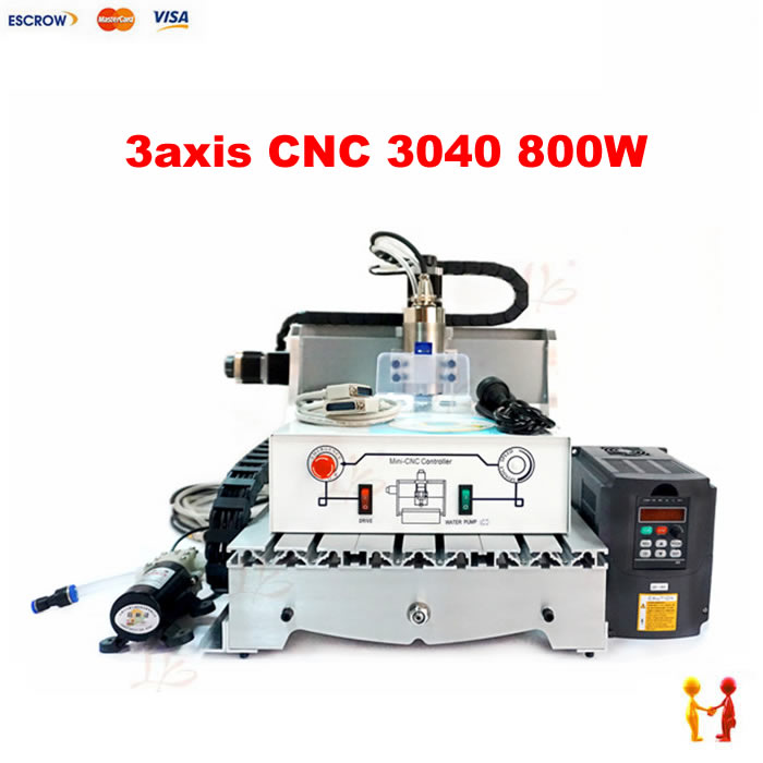 800W 3Axis CNC Engraver Engraving Machine CNC router 4030Z for metal wood working 3040 milling cutter new usb mach3 three axis 4030z 3040 800w cnc router engraver engraving machine