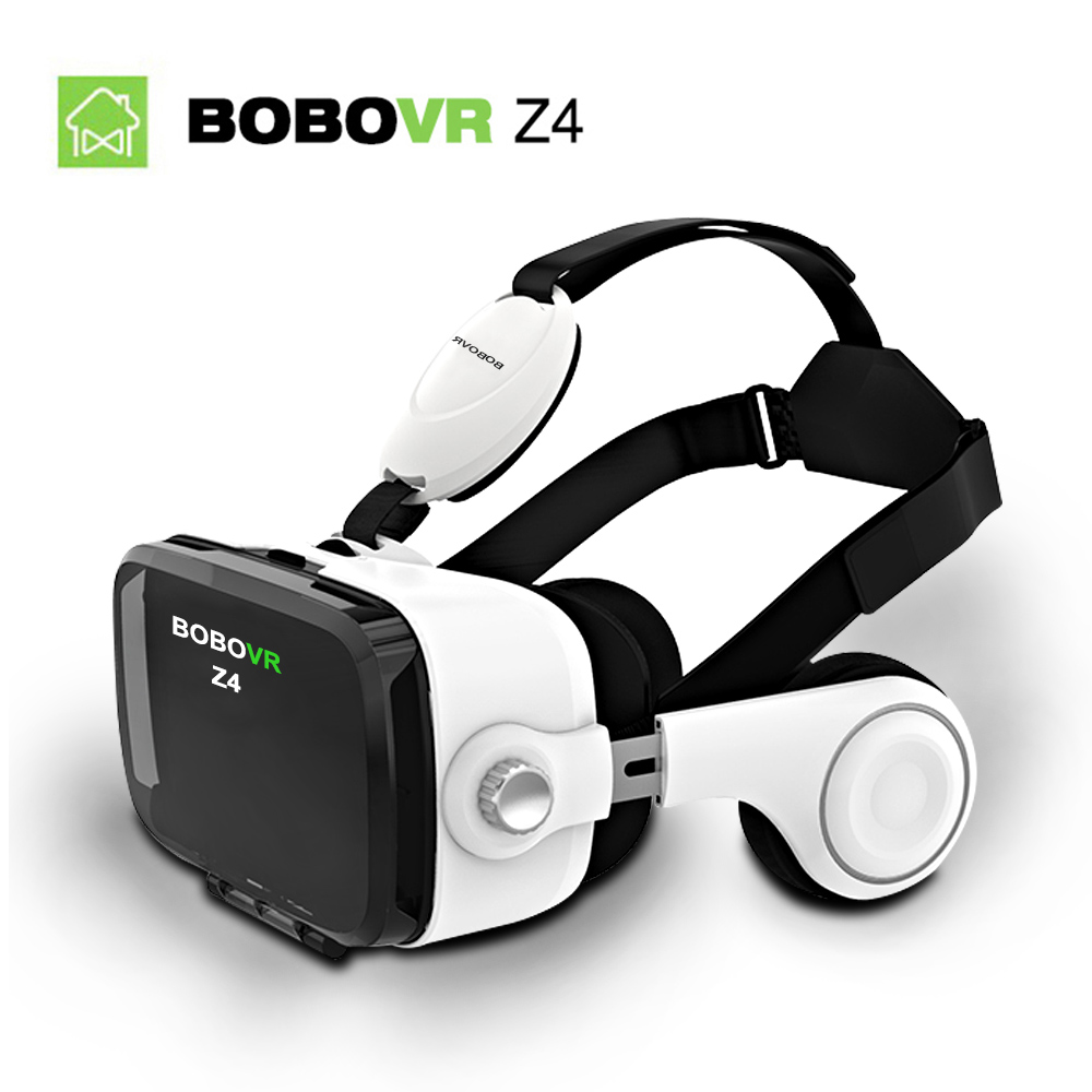 Bobovr z4 VR Box Virtual Reality Helmet Goggles 3D VR Glasses Mini Google Cardboard VR Box 2.0 BOBO VR for 4-6′ Mobile Phone