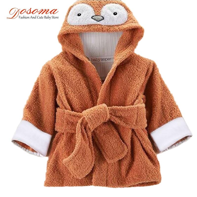 2017 New baby bathrobe children kids cartoon baby towel bath robe baby homewear boys girls hooded animal modeling baby bathrobe