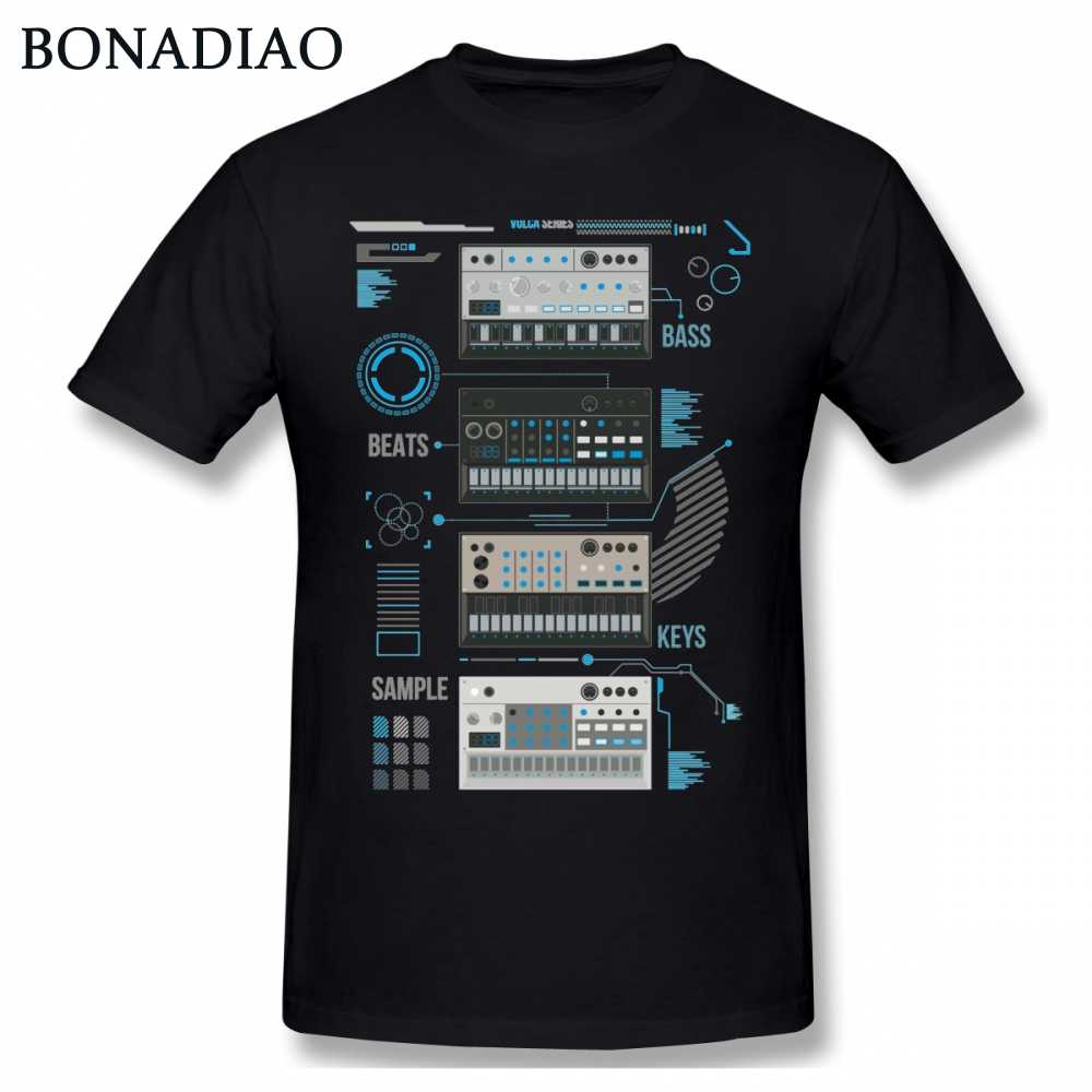 For Man Korg Volca Keys Series Basic Blue Music T shirt Quality Print Rock And Roll Round Collar S-6XL Plus Size Tee Shirt