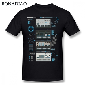 For Man Korg Volca Keys Series Basic Blue Music T shirt Quality Print Rock And Roll Round Collar S-6XL Plus Size Tee Shirt(China)