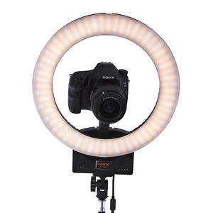 Image 4 - Fusitu FT 12B iki renk Selfie halka lamba 3200 5600K 240 Led fotografik ışık 3 sıcak ayakkabı halka ışık kameralı telefon Video