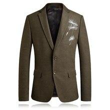 дешево!  Пиджак мужской моды одуванчика с вышивкой пиджак весной и осенью мужской бизнес случайный большой  Л