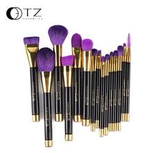 TZ Brand 15pcs Makeup Brushes Sets Synthetic Hair Make Up Brushes Tools Cosmetic Brush Professional Foundation Brush Kits Purple