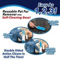 Hurricane Fur Wizard Pet Fur Lint Remover Reusable Pet Fur With Self Cleaning Base