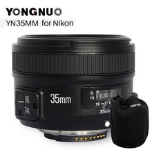 YONGNUO YN 35mm F2 Camera Lens for Nikon Canon EOS YN35MM Lenses AF MF Wide Angle Lens for 600D 60D 5DII 5D 500D 400D 650D 6(China)