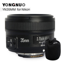 YONGNUO YN 35mm F2 Camera Lens for Nikon Canon EOS YN35MM Lenses AF MF Wide Angle Lens for 600D 60D 5DII 5D 500D 400D 650D 6