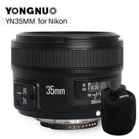 YONGNUO YN 35mm F2 Camera Lens for Nikon Canon EOS YN35MM Lenses AF MF Wide Angle Lens for 600D 60D 5DII 5D 500D 400D 650D 6