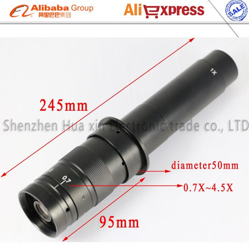 Бесплатная доставка Max 300x Zoom c-крепление стекло переходник для объектива 4.5X адаптер для промышленный микроскоп камера окуляр Лупа