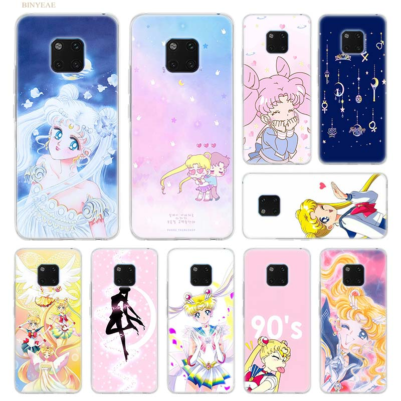 Sailor Moon girl Silicon for Huawei Mate 10 20 lite Pro 10lite 20lite 10Pro 20Pro Style TPU Phone Cases Clear Soft