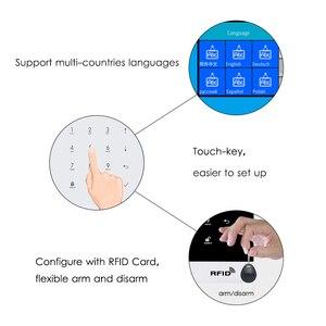 Image 3 - Marlboze Kablosuz Ev Güvenlik GSM WIFI GPRS Alarm Sistemi IOS Android APP Uzaktan Kumanda RFID Kart PIR Sensörü Kapı Sensörü kiti