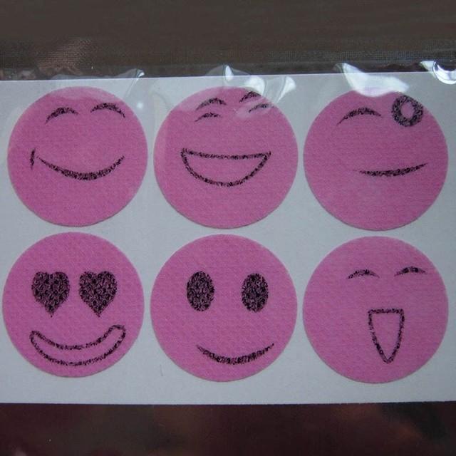 Cartoon Face Mosquito Repellent Stickers.