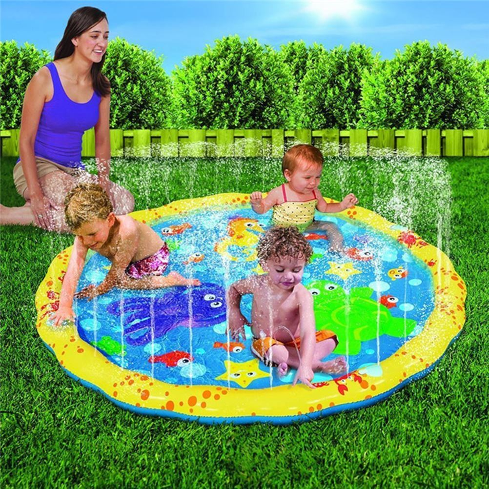 Baby Inflatable Toy Wading  Squirt Fun Pool Outdoor Squirt&Splash Water Spray Mat For Toddlers Baby Simple Instant Set Up
