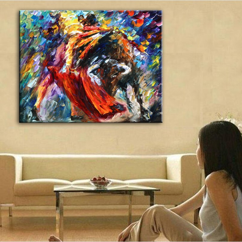Home decor simulation oil painting on the canvas Landscape pictures man Bullfight Canvas oil Painting