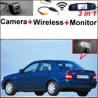 3 In1 Special Rear View Camera Wireless Receiver Mirror Monitor Easy Backup Parking System For Mazda