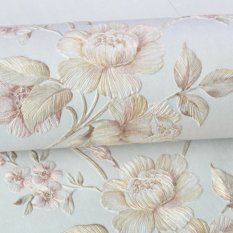 beibehang  papel de parede Pastoral non-woven wallpaper large three-dimensional flowers simple bedroom living room full backdrop beibehang wall paper pastoral cozy living room bedroom wallpaper 3d three dimensional relief european non woven papel de parede