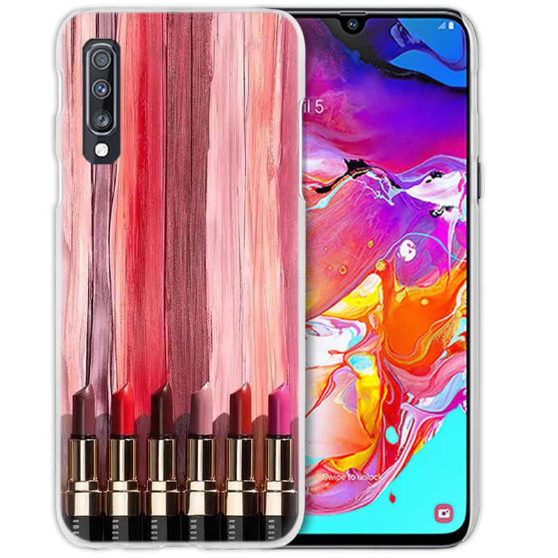 แต่งหน้า Lover ลิปสติกสำหรับ Samsung Galaxy A50 A70 A20e A40 A30 A20 A10 A8 A6 Plus A9 A7 2018 พีซีโทรศัพท์ Coque Cover